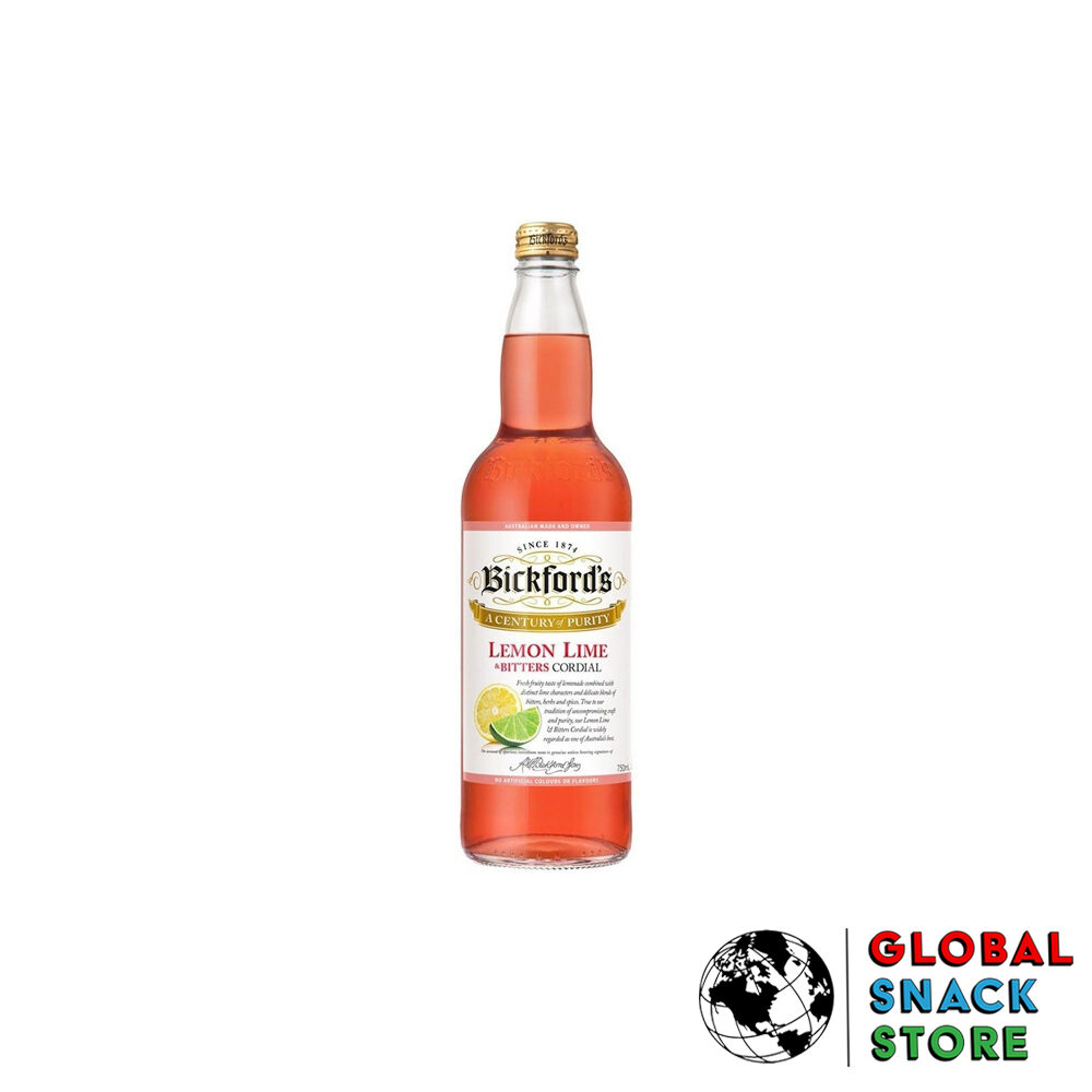 Bickfords Lemon Lime Bitters Cordial 750Ml Delivery Melbourne Open Now Near Me