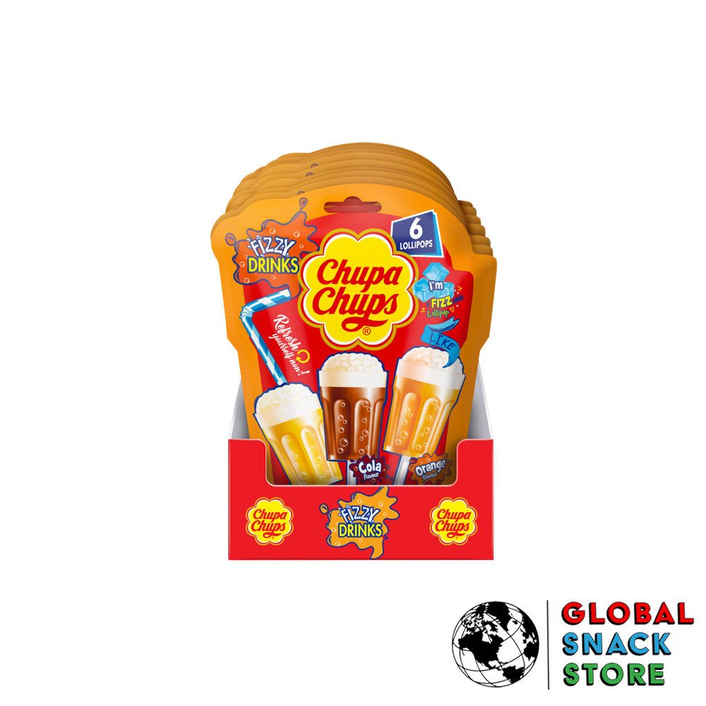 Chupa Chups Fizzy Drink Lollipop Bag 6X15g Delivery Melbourne Open Now Near Me