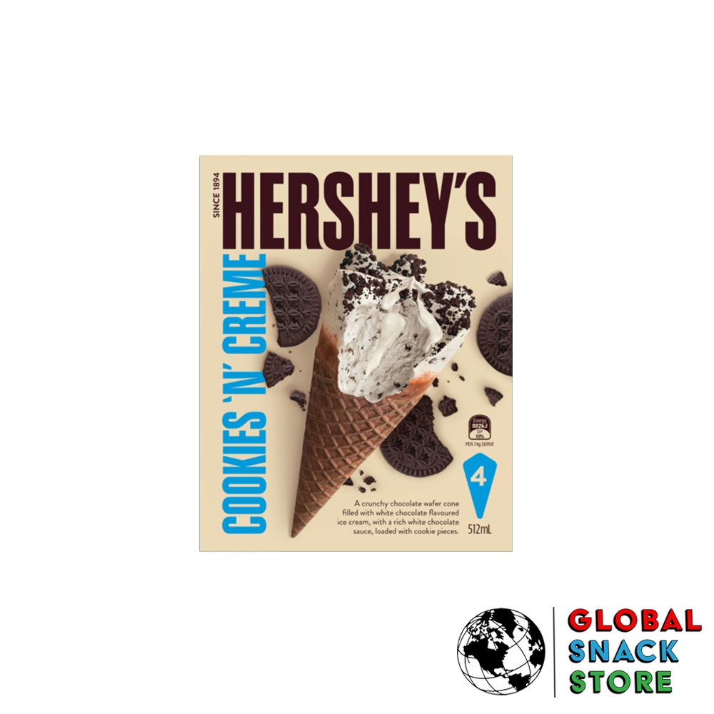 Hershey's Cookies 'N' Creme Cones 4Pk Melbourne Delivery Near Me Open Now