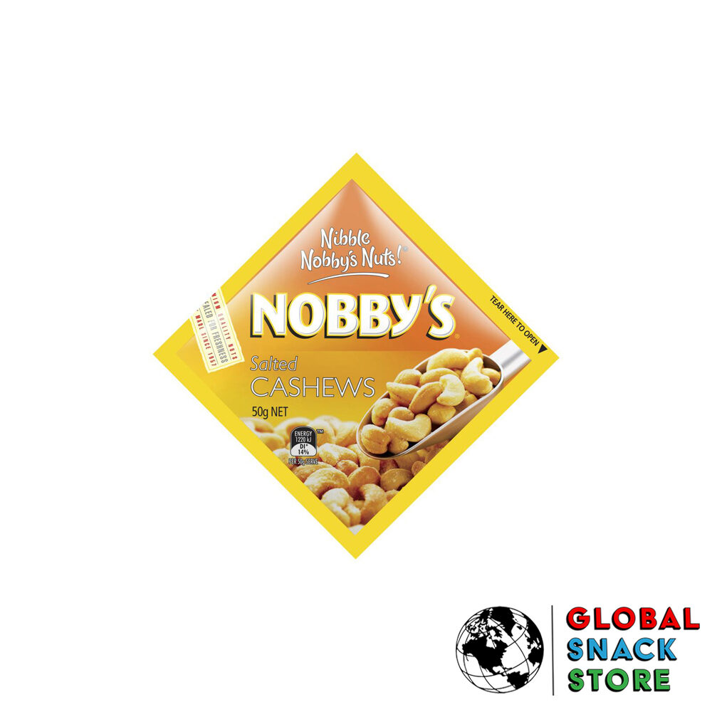 Nobbys Salted Cashew Nuts 50g Delivery Melbourne Open Now Near Me