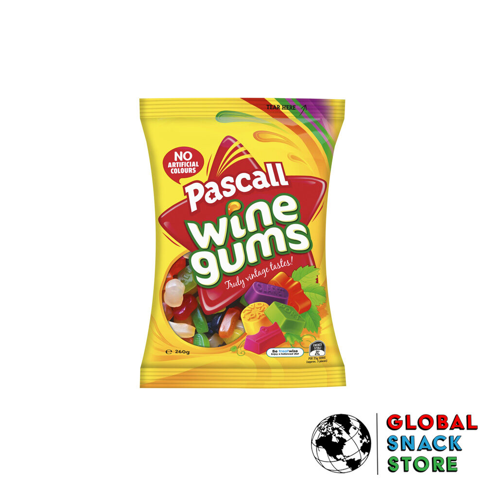 Pascall Wine Gums 260g Delivery Melbourne Open Now Near Me