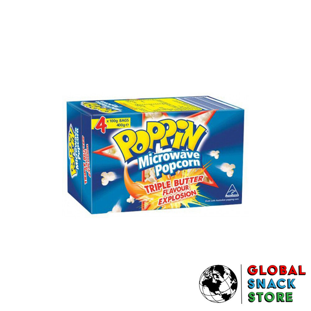 Poppin Butter Microwave Popcorn 400g Delivery Melbourne Open Now Near Me