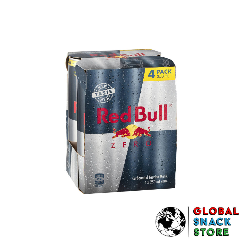 Red Bull Energy Drink Zero 4 Pack 250Ml Delivery Melbourne Open Now Near Me
