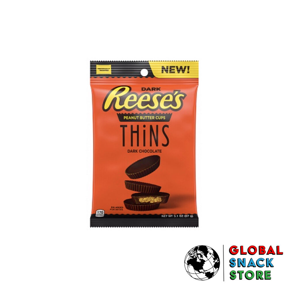 Reeses Thins Peanut Butter Cups Dark Chocolate 87g Melbourne Delivery Near Me Open Now