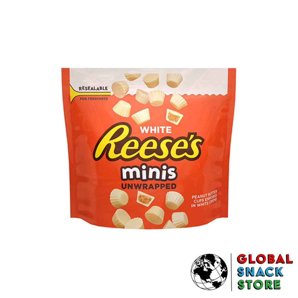 Reeses White Choc Mini's Share Bag 215g Melbourne Delivery Near Me Open Now