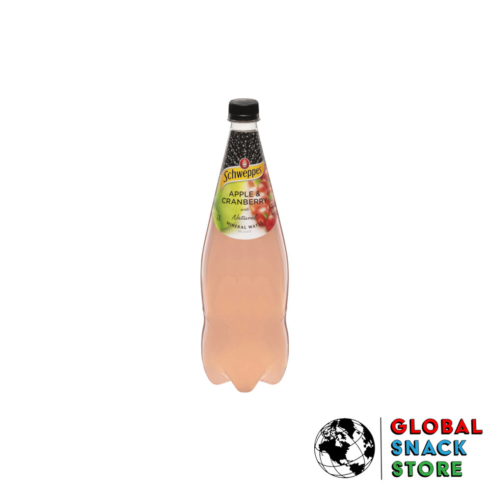 Schweppes Apple And Cranberry Mineral Water 1.1L Delivery Melbourne Open Now Near Me