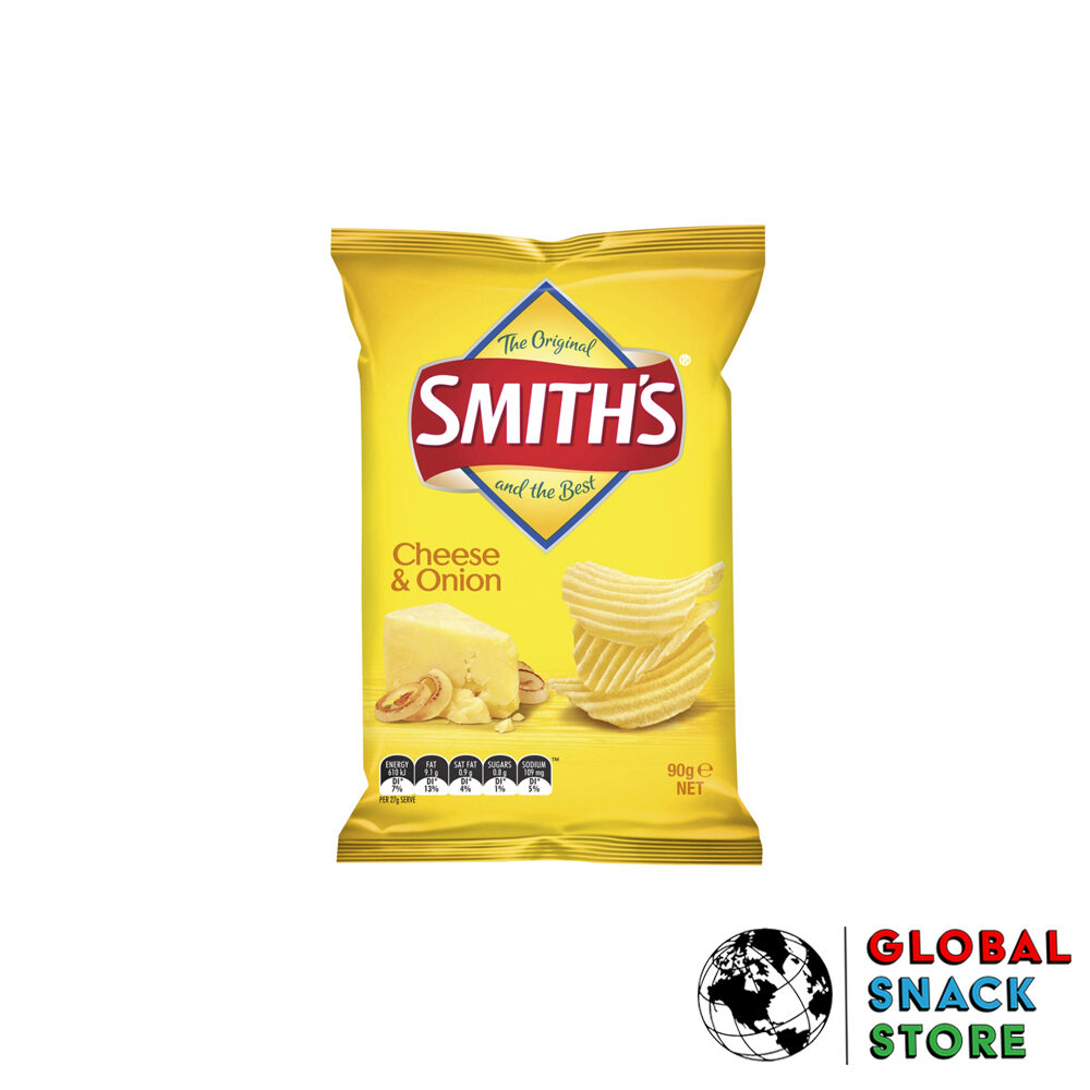 Smiths Cheese And Onion Crinkle Potato Chips 90g Delivery Melbourne Open Now Near Me