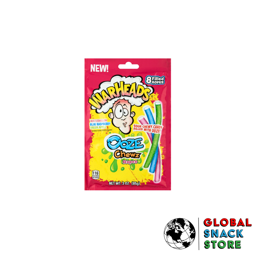 Warheads Ooze Chewz Ropes 85g Melbourne Delivery Near Me Open Now
