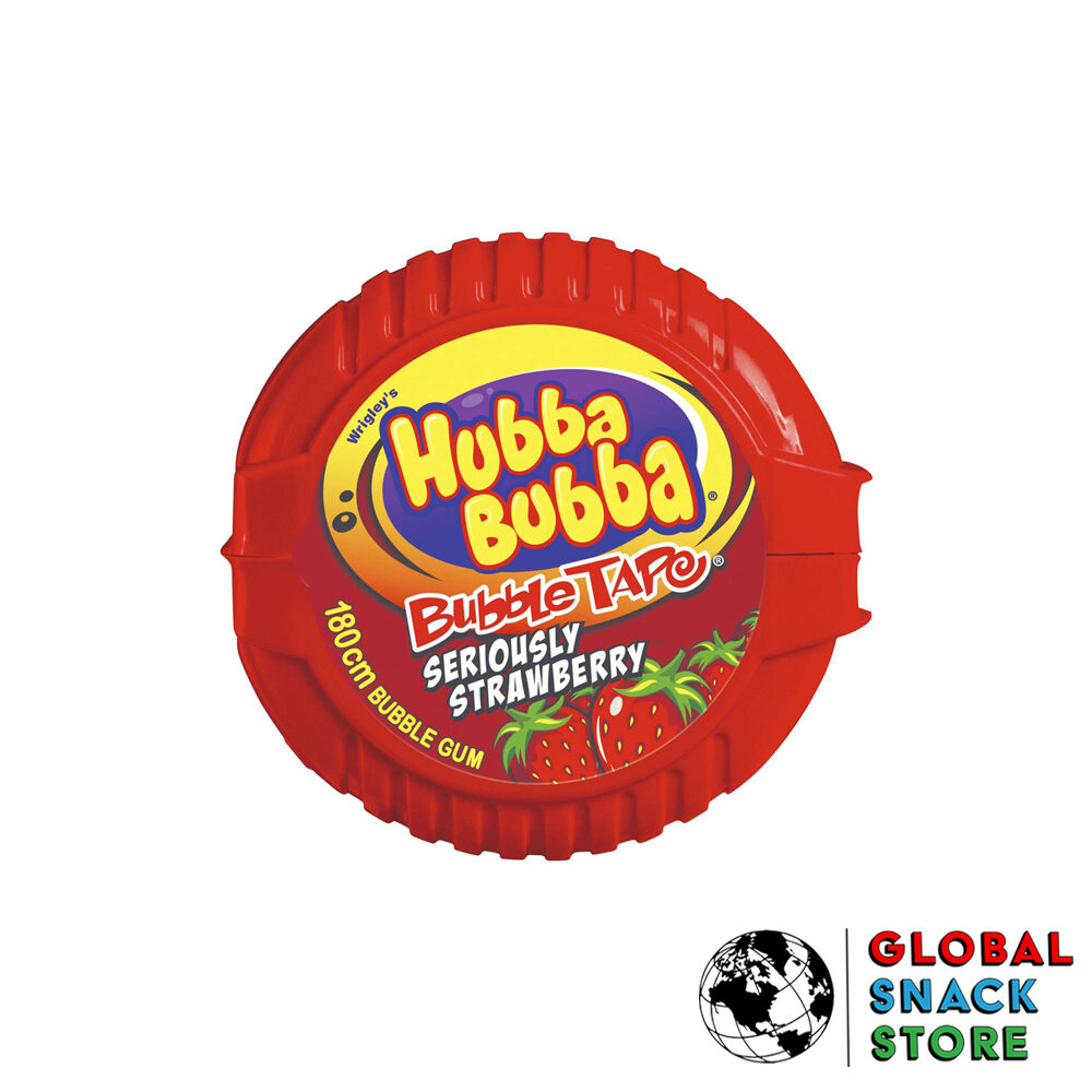 Wrigleys Hubba Bubba Bubble Gum Strawberry Tape 56g Delivery Melbourne Open Now Near Me